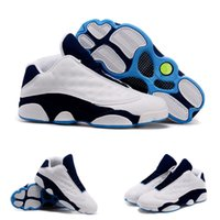 (With shoes Box) Hot Sale Retro 13 XIII Low Midnight Navy Ho...