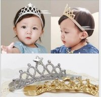 Girls Princess Headbands Baby Headwear Hair Bands Bow Crown ...