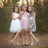 2016 European Style Summer Children Girls Lace Hollowed Dres...