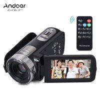 Andoer HDV-302S schermo LCD 3,0 pollici Full HD 1080P 30FPS 20MP 16X zoom digitale Anti-shake DV Video Remote Control Shutter videocamera portatile