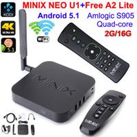 MINIX NEO U1 TV Box + Free A2 облегченный Android 5.1 TV Box Amlogic S905 Четырехъядерный процессор 4K HD 2G 16G Google TV Media Player