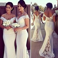 Elegant Long Formal Dresses for Women 2016 Lace Off Shoulder...