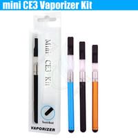 kit CE3 510 fil BUD tactile MINI kits de CE3 O PEN CBD atomiseur d'huile 280mAh batterie cigarettes électroniques Vaporisateur blister e kits cig