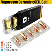 Vaporesso céramique Ccell Bobines 0.9ohm 0.5ohm 0.6ohm Ni200 0.2ohm Ccell remplacement Coil Head For réservoir cible 100% Original