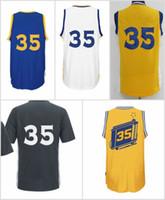 2016 New #35 Basketball Jersey Blue White Black Yellow jerse...