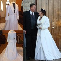 2016 Winter Bridal Clocks With Long Sleeves V Neck Women Wed...
