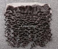 Greatremy® 13*2 ear to ear Virgin Brazilian Curly Wave Lace ...