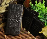 1314 Crocodile Men Wallet Luxury Cowhide Purse Genuine Leath...