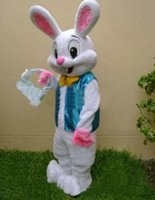 free shipping new PROFESSIONAL EASTER BUNNY MASCOT COSTUME B...