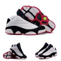 (With shoes Box) Hot Sale Retro 13 XIII Low White Gym Red St...