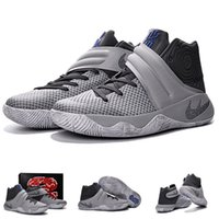 (With shoes Box) Hot Sale Kyrie 2 Irving II Wolf Grey Black ...