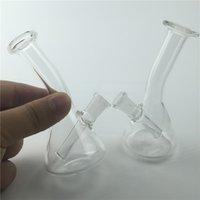4,3 pouces de mini-pétrolier bong tuyaux en verre d'eau avec 10mm femelle 45g épais pyrex recycler verre bongs pour fumer