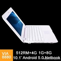 10.1 pouces Mini ordinateur portable VIA8880 Netbook Android 5.0 ordinateurs portables VIA8880 10.1