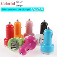 2.1A двойной USB Красочные мини автомобильное зарядное устройство Micro Dual USB адаптер флэш Два порта USB для телефона Pad С