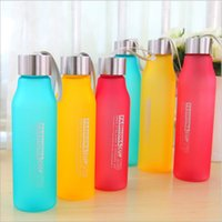 800ML   600ML Portable Candy Color Leakproof Sport Water Bot...