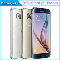 Reformado teléfono celular original para Samsung Galaxy S6 G920A G920T G920P G920V desbloqueado Octa Core 3 GB / 32 GB 16MP 5.1 pulgadas 4G LTE de ATT