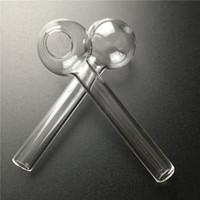 tuyau de brûleur de verre 6cm tube de verre épais pour fumer clair à bas prix pyrex main brûleur tuyau verre conduites d'eau des plates-formes pétrolières ajustement