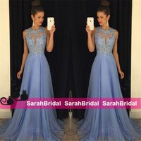Pastel Lavender 2016 Prom Dresses Lace Applique Beads 2017 F...