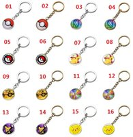 New Anime Pocket Monster Poke Ball Keychain Cabochon Time Ge...