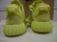 Originals hot yellow color new kanye west boost 350 boost sp...