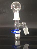 Verre adaptateur mâle coudé Set adaptateur 18mm Femme Reclaim Catcher Set complet pour plates-formes pétrolières bong d'eau en verre de tuyau