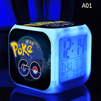 Alarm Clock with LED cartoon poke go game action toy figures...
