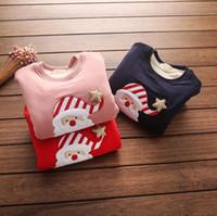 Cartoon T- shirt Santa Claus Embroidery tops for girls kids c...