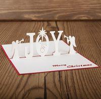 Merry Christmas Vintage 3D angel design pop up paper handmad...