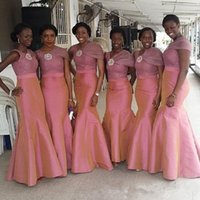 Custom Made Mermaid Bridesmaid Dresses Lace V- Neck Sleeveles...
