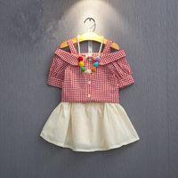 2016 summer new girls suit children' s princess straples...