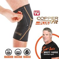 Copper Fit PLUS: Knee Compression Sleeve with Zipper In EXTE...