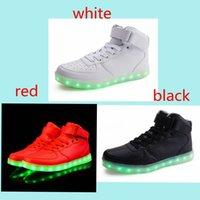 Men Women led shoes USB charging sport led light shoes for s...