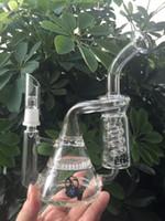 bio narguilés bong pipes en verre recycleur de verre et nid d'abeille perc deux fonctions conduites d'eau en verre tubes de verre plate-forme pétrolière