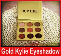 Кили kyshadow золото отжатый порошок Eyeshadow 9colors Kylie XOXO бронзовой палитры теней для век Kylie золота горячей