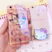i6 6s plus Phone Case IMD Soft TPU Hello Kitty Transparent C...