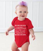 2016 hot sale baby romper First Merry Christmas sleepsuit Ne...