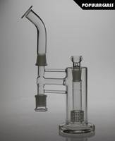 Deux fonctions Matrix percolateur verre Ash Catchers Birdcage Percolateur bongs de verre épais pipe pipe taille 18.8mm FC-278
