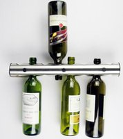Stainless Steel Bar Wine Rack Wall Mounted 42. 5cm L & 5cm Di...
