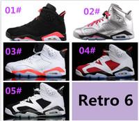 Top Quality Retro 6 Black Infrared Men' s Basketball Sho...