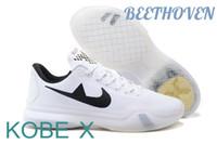 2016 Fashion KOBE 10 BEETHOVEN Basketball Shoes Kobe X White...