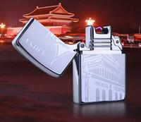 2016 Nouvelle arrivée CHINE Classique Caractéristiques Pulsed Arc USB plus léger coupe-vent de charge Briquets électroniques plus légers Cadeaux Hommes Briquets JL207
