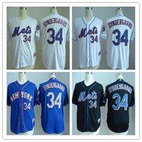 New York NY Mets Jerseys #34 Noah Snydergaard White Jersey W...