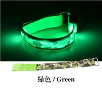 Outdoor Sports Safety LED Flashing nylon Camo Arm band Wrist...
