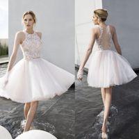 Mini Short Beaded 3D- Floral Appliques Cocktail Dresses Jewel...