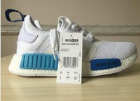 white blue lighter shoes NMD Runner PK Shoes Mens Sports Run...