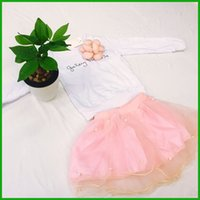 girls vestidos suits lovely fashion pearls lace Tutu style l...