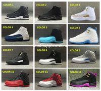 Wholesale 2016 Air Retro 12 Wool Basketball Shoes Deep Royal...