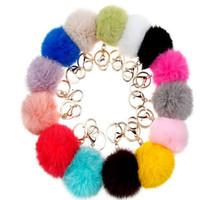 10pcs lot Sindyyang Gold 8CM Rabbit Fur Ball Keychain fluffy...