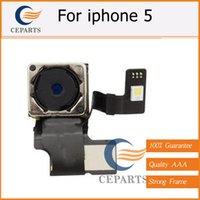 100% garantie Original nouvelles pièces de réparation 8,0 Mega Pix arrière arrière caméra avec Flash Module Flex câble ruban pour iPhone 5 5G