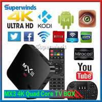 MXIII MX3 4K Quad Core Smart TV BOX Android 4.4 KODI XBMC Entièrement équipé WIFI 8GB DHL gratuit